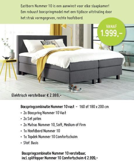 eastborn nummer 10 boxspring collectie droommeubel
